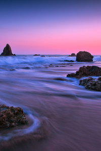 360x640 Earth Ocean Rock Sunset Long Exposure 5k