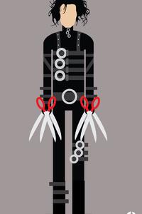 540x960 Edward Scissorhands Minimalism 4k