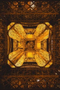 Eiffel Tower Paris France Abstract 5k