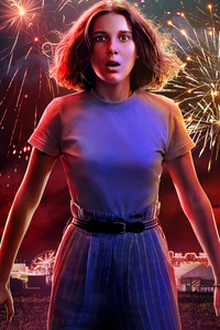 640x1136 Eleven In Stranger Things Season 3 2019 5k