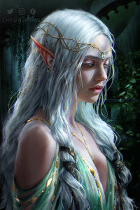 Elf Girl Fantasy Art