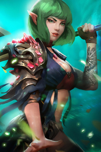 1440x2960 Elf Girl With Sword