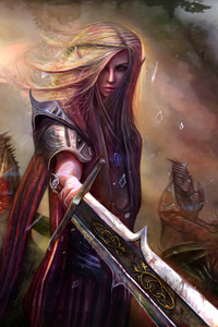 240x320 Elf Hunter Fantasy Warrior Girl 5k