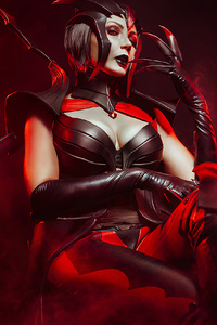 1242x2688 Elise League Of Legends Cosplay