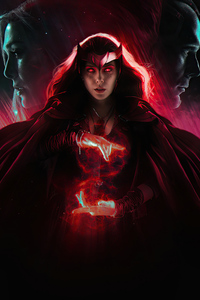 240x320 Elizabeth Olsen As Scarlet Witch In Wanda Vision 4k