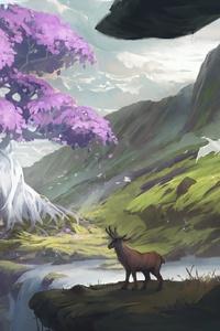 1242x2688 Elk Art 4k