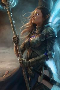 1080x1920 Ellenuviel Fantasy Girl Art