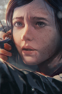 Ellie The Last Of Us Game Character Artwork