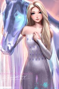 240x320 Elsa Frozen 2 4k