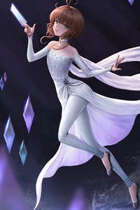 1080x1920 Elsa Frozen Anime Character 4k