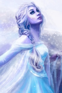 Elsa Frozen Art