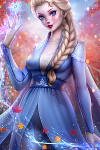 1280x2120 Elsa Queen Frozen