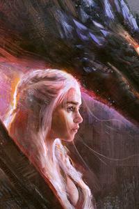 1242x2688 Emilia Clarke Daenerys Art