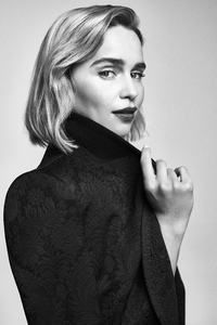 Emilia Clarke Dolce And Gabbana Photoshoot Monochrome 4k