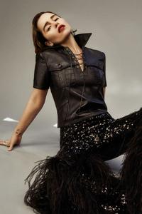 1440x2960 Emilia Clarke Flaunt Magazine