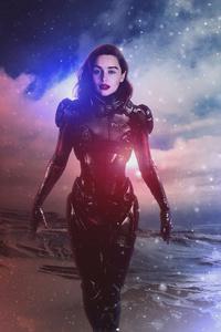 2160x3840 Emilia Clarke Mass Effect Andromeda 4k