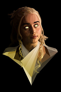 1125x2436 Emilia Clarke Polygon Art 4k