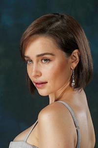 1280x2120 Emilia Clarke Short Hairs