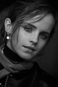Emma Watson 2017 Black And White