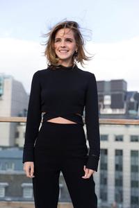Emma Watson Cute Smiling Hairs In Air
