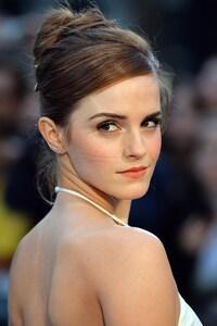 1242x2688 Emma Watson In White Dress