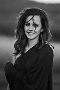1125x2436 Emma Watson Monochrome 5k