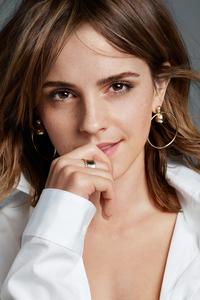 480x854 Emma Watson Portrait Closeup 4k