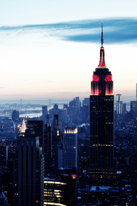 480x854 Empire State Building New York 4k