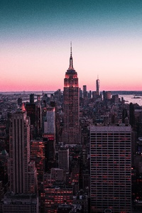 320x480 Empire State Building New York 8k