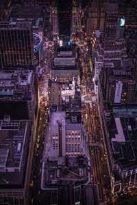 1280x2120 Empire State Building Top View 8k
