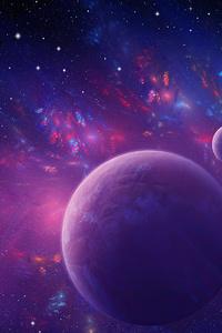 240x400 Engima Fractal Nebula 4k