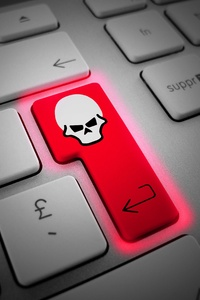 720x1280 Enter Key Skull Hacking 5k