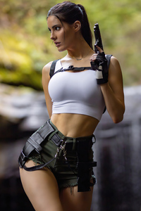 1440x2960 Erin Olash Tomb Raider Cosplay