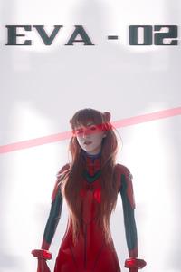 1242x2688 Evangelion Anime Girl Cosplay 4k