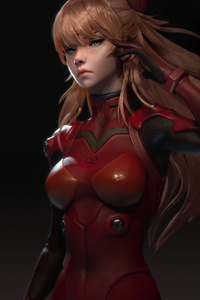 Evangelion Asuka Langley Cgi Art 4k
