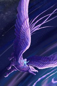 Evening Dragon Ride Fantasy 4k