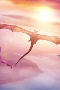 Evening Flight Of Dragons 4k