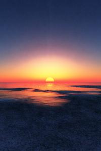 Evening Glow While Sunrise