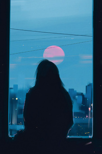 320x480 Evening Sadness 4k