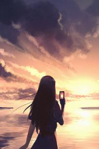 Evening Selfie Anime 4k
