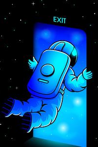 480x800 Exit Astronaut 4k