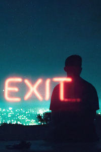 360x640 Exit Neon Boy Standing Silhouette