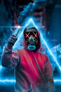Face Mask Smoke Bomb 4k