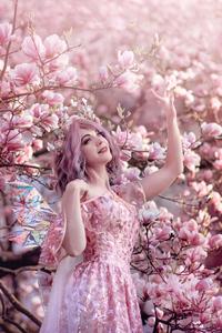 320x568 Fairy Girl In Flowers