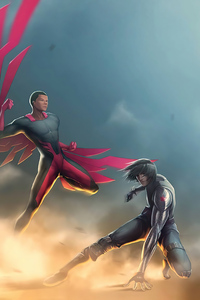 480x854 Falcon And The Winter Soldier Fanart 5k