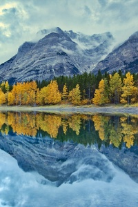 Fall Foliage Lake Mountain Nature Reflection
