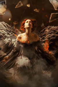1125x2436 Fallen Angel 4k