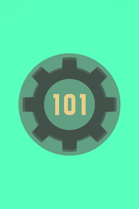 800x1280 Fallout 3 Vault 101 Minimal 5k