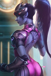 480x800 Fan Art Of Widowmaker 4k