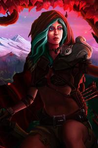 1080x2160 Fantasy Archer Art 4k